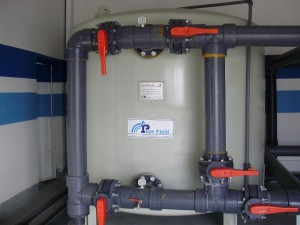 water treatment sand filter