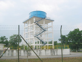 circular-water-Storage Reservoir